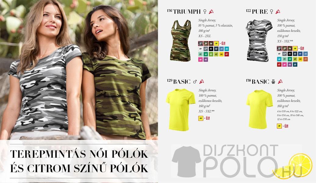 Terepmintás női pólók
