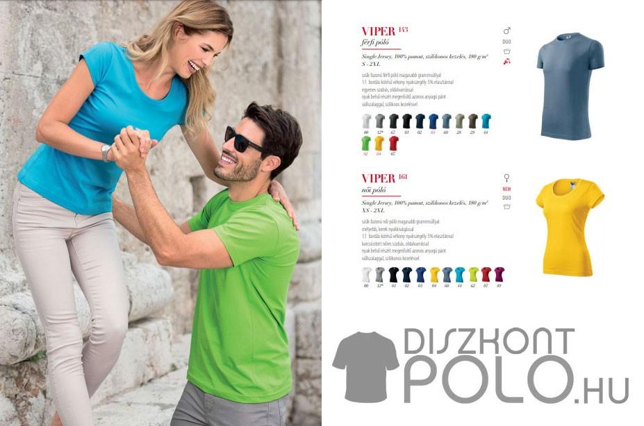 Rövid ujjú női és férfi pólók