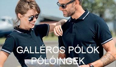 Galléros pólók, pólóingek online megrendelés
